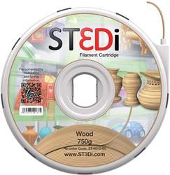 ST3Di 3D cartridge PLA 750G voor St3di printer, hout
