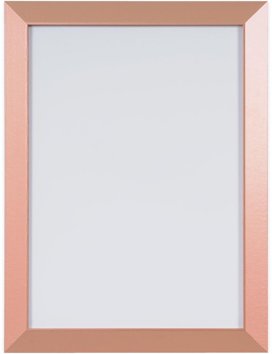 Bi-Office Kamashi whitebord met koperkleurige omlijsting, ft 60 x 45 cm