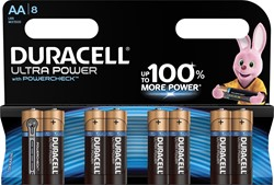 Duracell batterijen Ultra Power AA, blister van 8 stuks