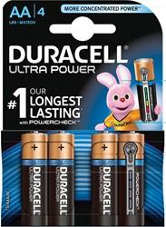 Duracell batterijen Ultra Power AA, blister van 4 stuks