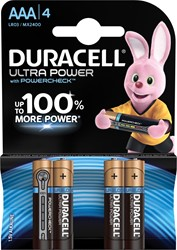 Duracell batterijen Ultra Power AAA, blister van 4 stuks