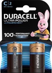 Duracell batterijen Ultra Power C, blister van 2 stuks