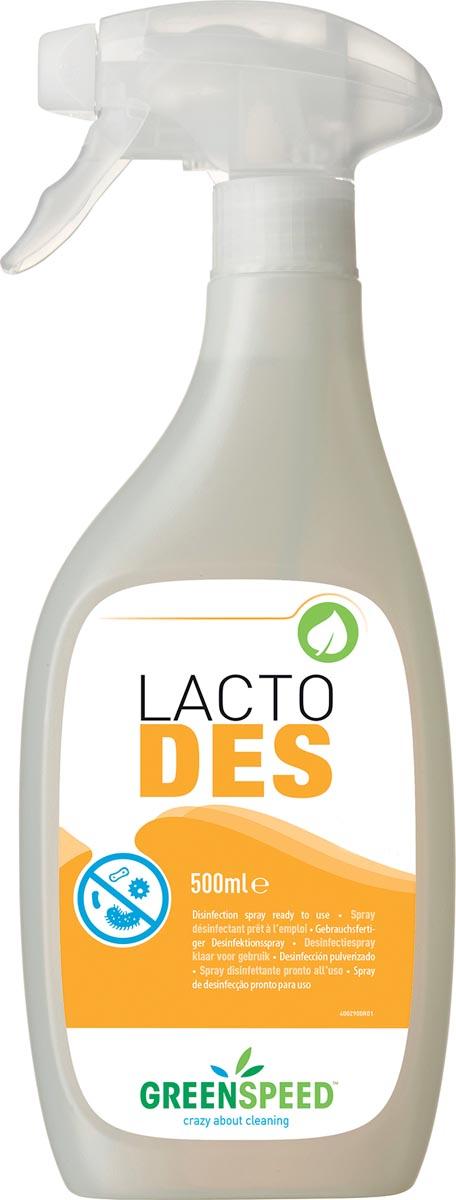 Greenspeed desinfectie Lacto Des, geurloos, flacon van 500 ml