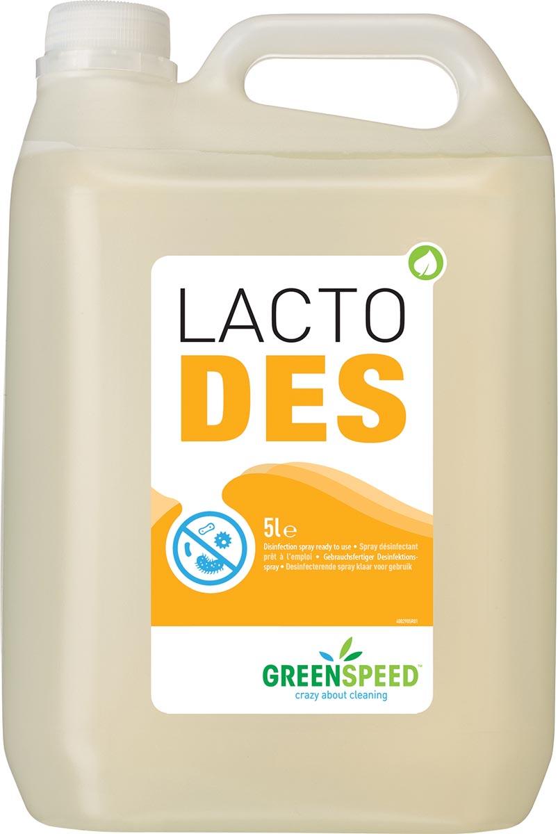 Greenspeed desinfectie Lacto Des, geurloos, flacon van 5l
