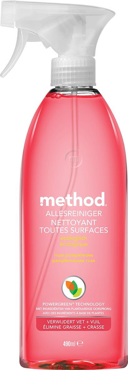 Method allesreiniger, roze pompelmoes, spray van 490 ml