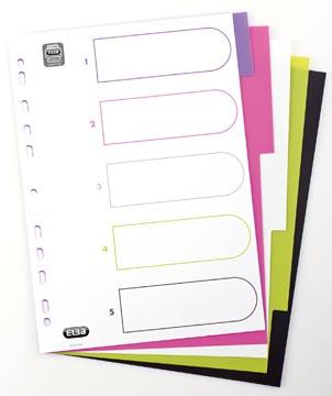 Elba Tabbladen MyColour 5 tabs, geassorteerde kleuren