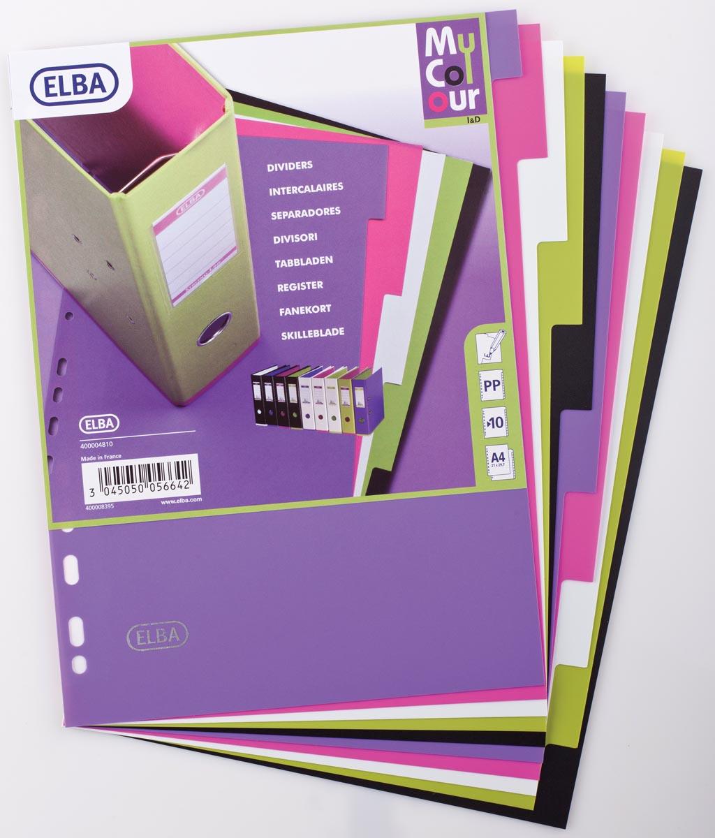 Elba Tabbladen MyColour 10 tabs, geassorteerde kleuren