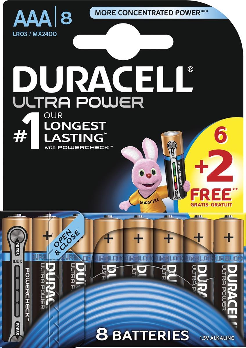 Duracell batterijen Ultra Power AAA, LR03, 6+2 gratis