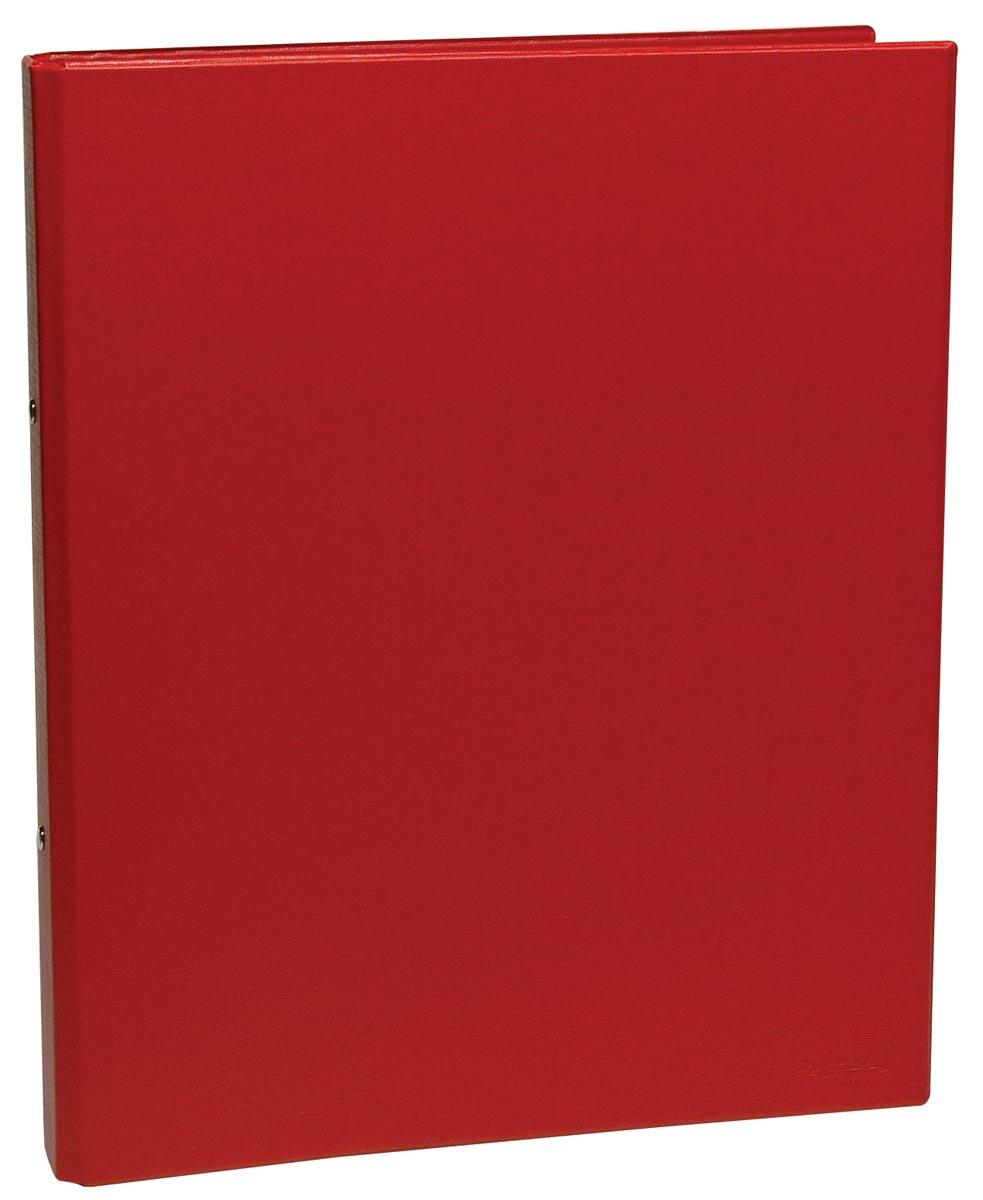 Ringmap, ft A5, 2 ringen van 25 mm, rood