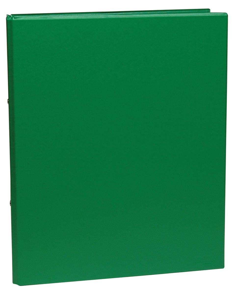 Ringmap, ft A5, 2 ringen van 25 mm, groen