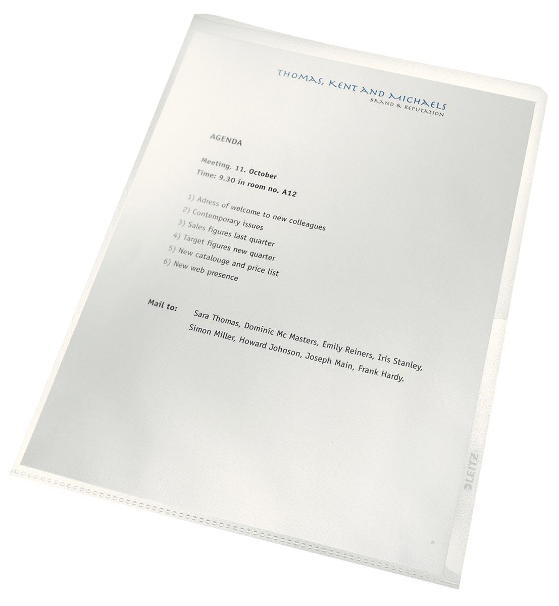 Leitz recycle L-map, transparant, pak van 100 stuks