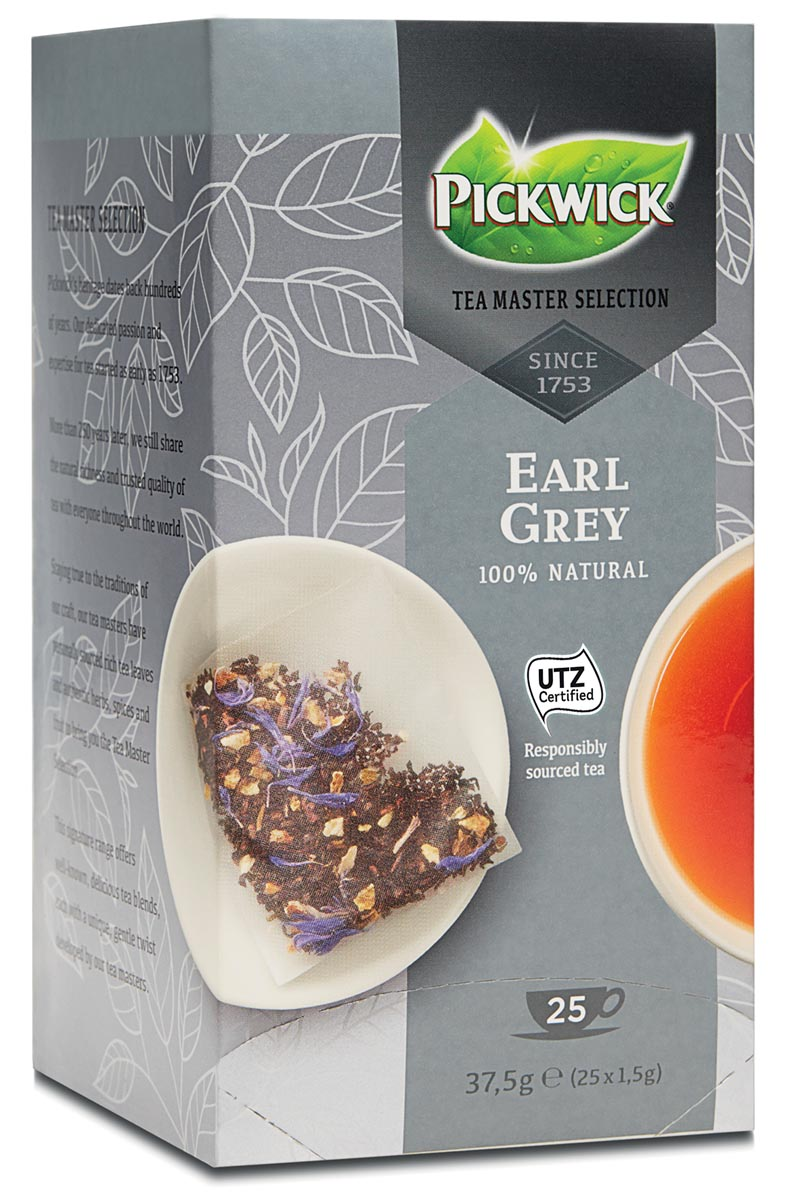 Pickwick Tea Master Selection, Earl Grey, pak van 25 stuks