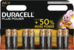 Duracell batterijen Plus Power AA, blister van 8 stuks