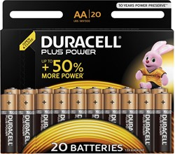 Duracell batterijen AA Plus Power, pak van 20