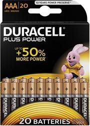 Duracell batterijen AAA Plus Power, pak van 20