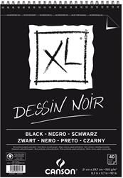 Canson tekenblok XL 150g/m² ft A4, 40 vel, zwart