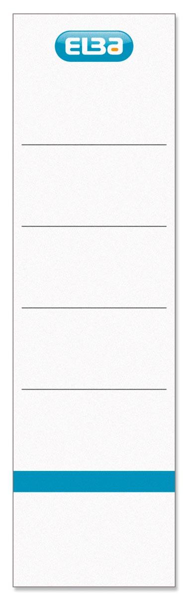 Elba rugetiketten, ft 19x5,9 cm, wit 10 st