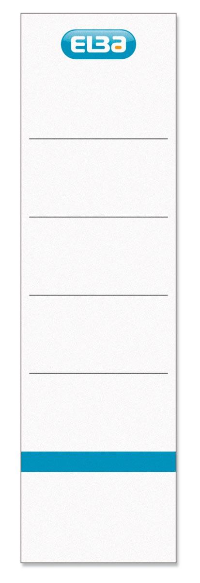 Elba rugetiketten rug van 8 cm, ft 19x5,4 cm, wit 10 st