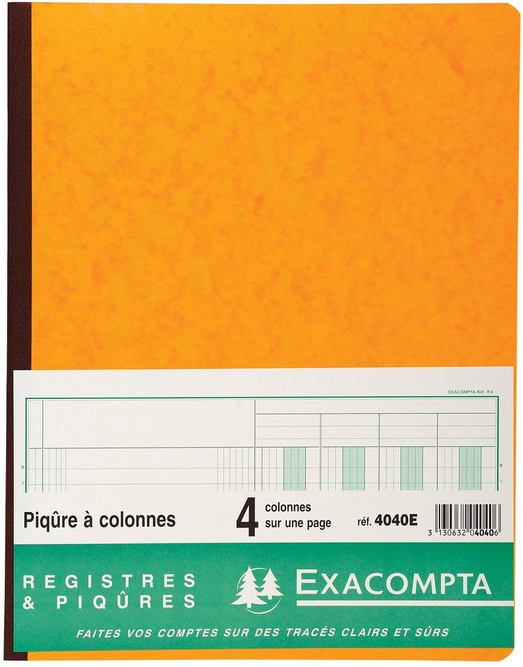 Exacompta registers, ft 32 x 25 cm, 4 kolommen op 1 bladzijde, 31 lijnen, 80 bladzijden