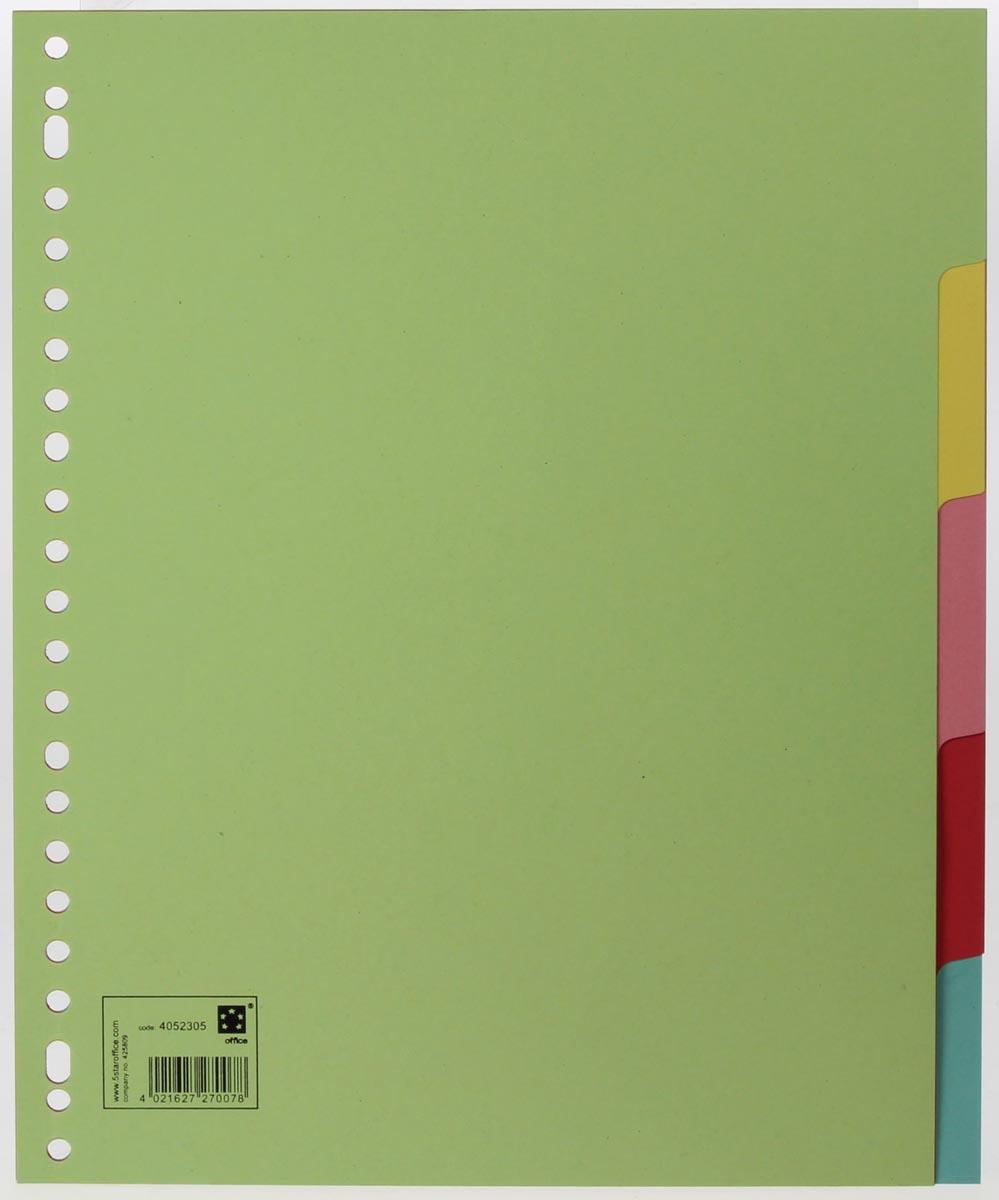 5 Star tabbladen 5 tabs, ft A4 maxi