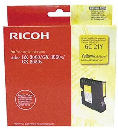 Ricoh gel cartridge GC21Y geel, 1000 pagina's - OEM: 405535