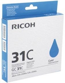 Ricoh gel cartridge GC31C cyaan, 1920 pagina's - OEM: 405689