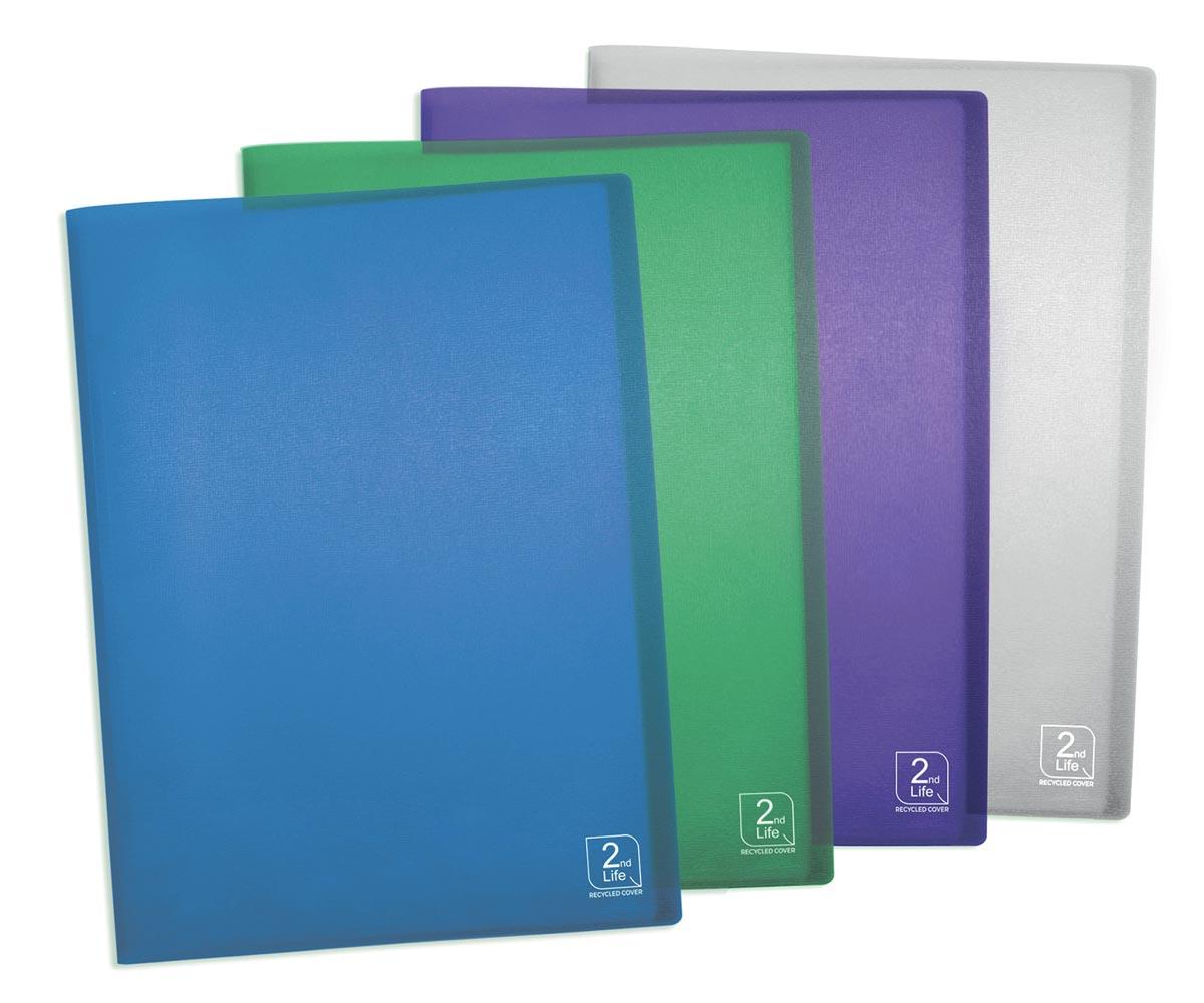 Elba 2nd Life showalbum, ft A4, met 40 tassen, uit PP, geassorteerde kleuren