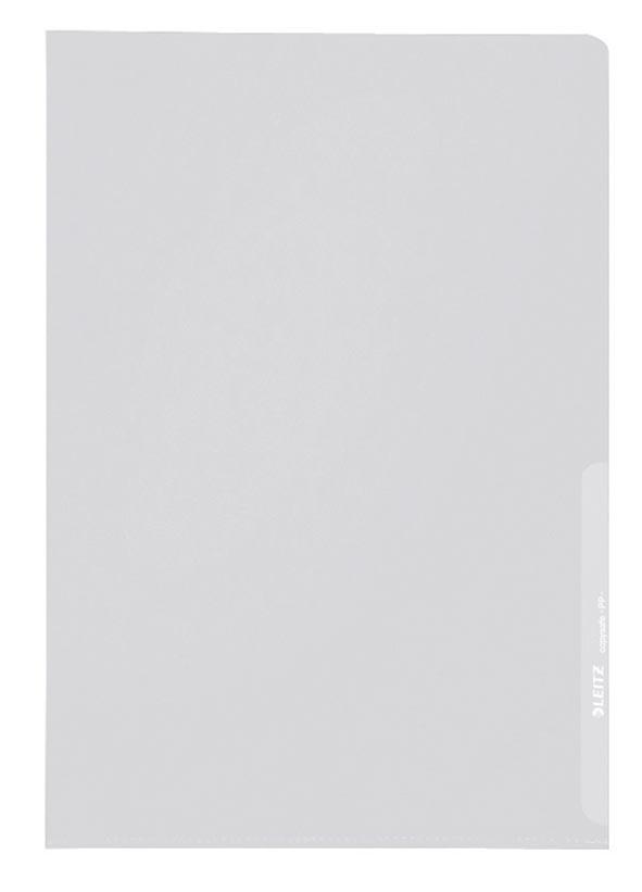 Leitz L-map Premium uit gekorrelde PP, 160 micron, pak van 100 stuks