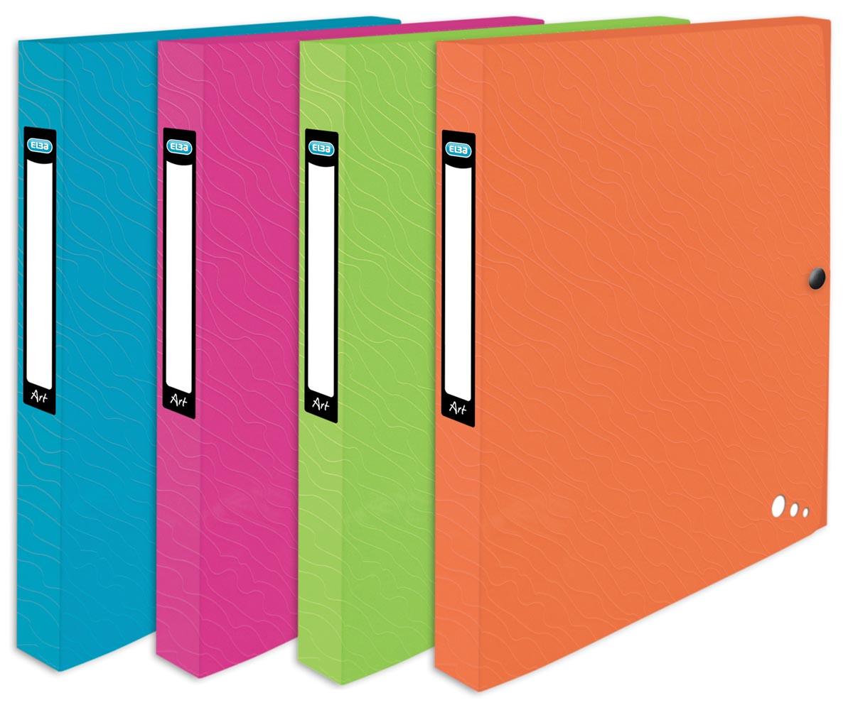 Elba Art Pop, elastobox, ft 25 x 32 cm, rug van 2,5 cm, geassorteerde kleuren