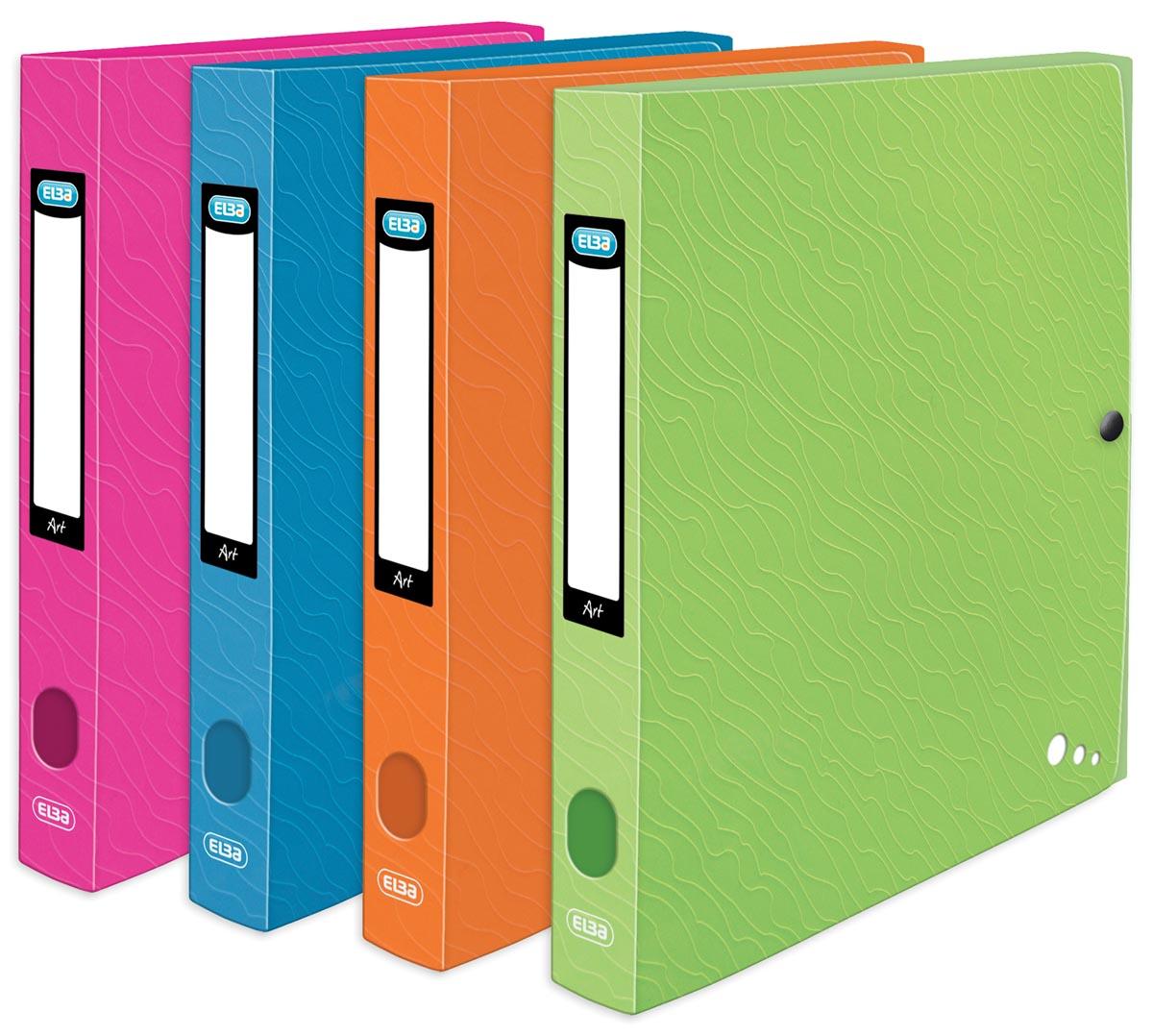Elba Art Pop, elastobox, ft 25 x 32 cm, rug van 4 cm, ge assorteerde kleuren