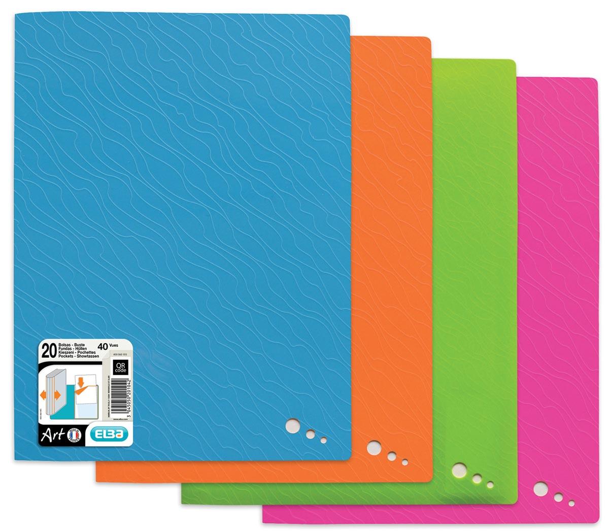 Elba Art Pop, showalbum, ft A4, 20 tassen, geassorteerde kleuren