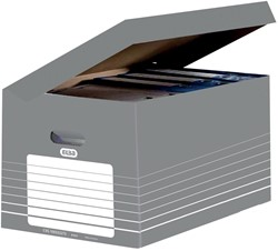 Elba archiefcontainer, ft  34,5 x 45 x 28 cm, grijs en wit