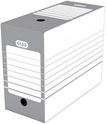 Elba archiefdoos rug van 15 cm, grijs