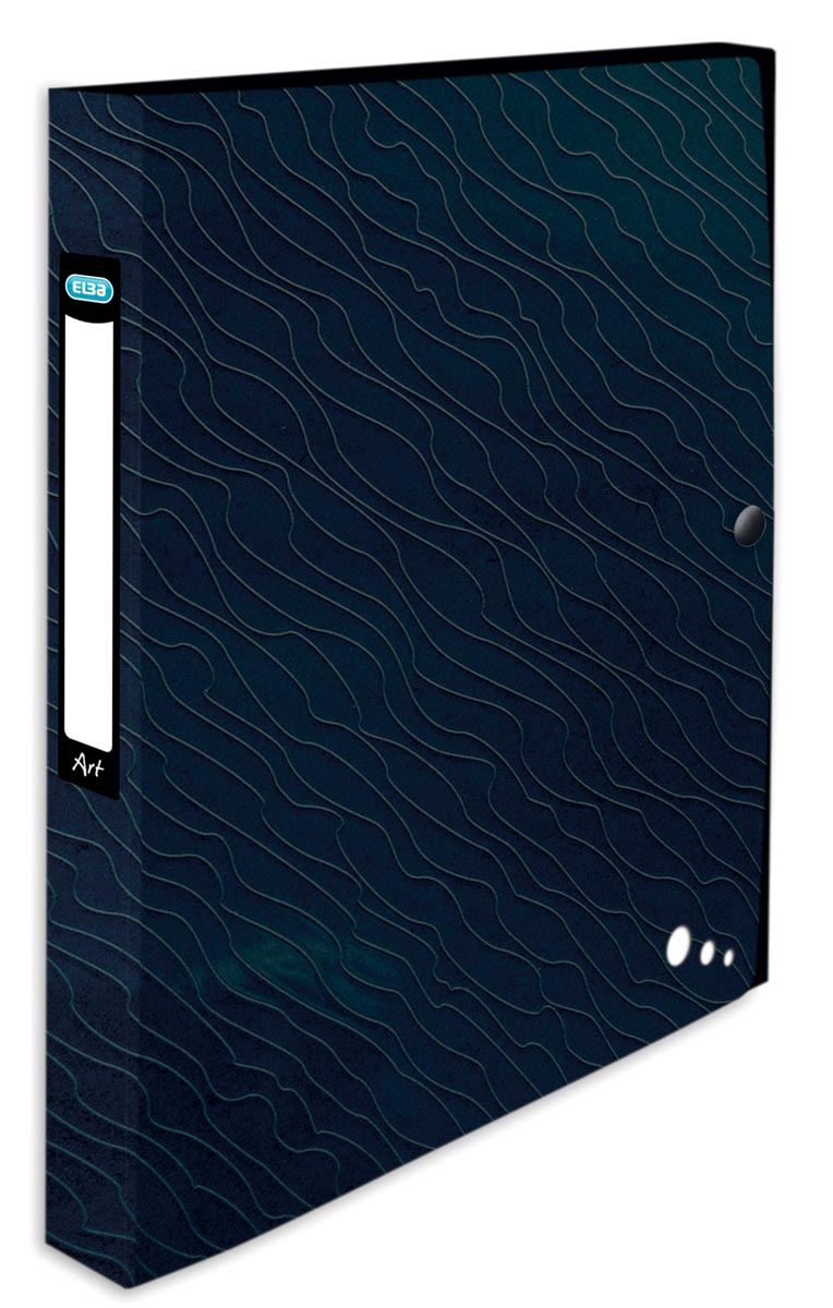 Elba Art Studio elastobox, ft A4, rug van 2,5 cm, uit PP, zwart