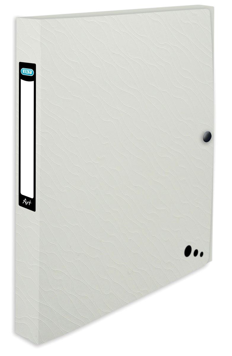Elba Art Studio elastobox, ft A4, rug van 2,5 cm, uit PP, wit