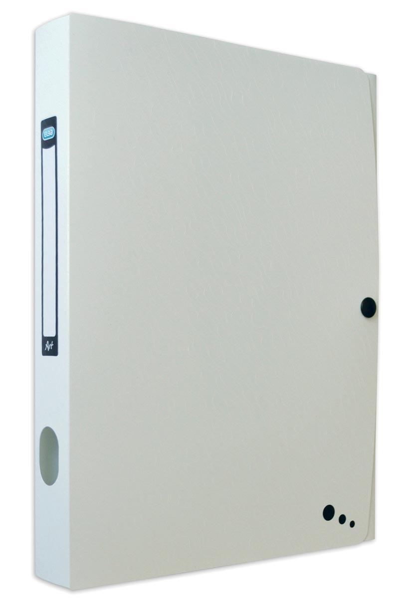 Elba Art Studio elastobox, ft A4, rug van 4 cm, uit PP, wit