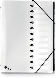 Elba Art Studio sorteermap, ft A4, 12 vakken, uit PP, wit