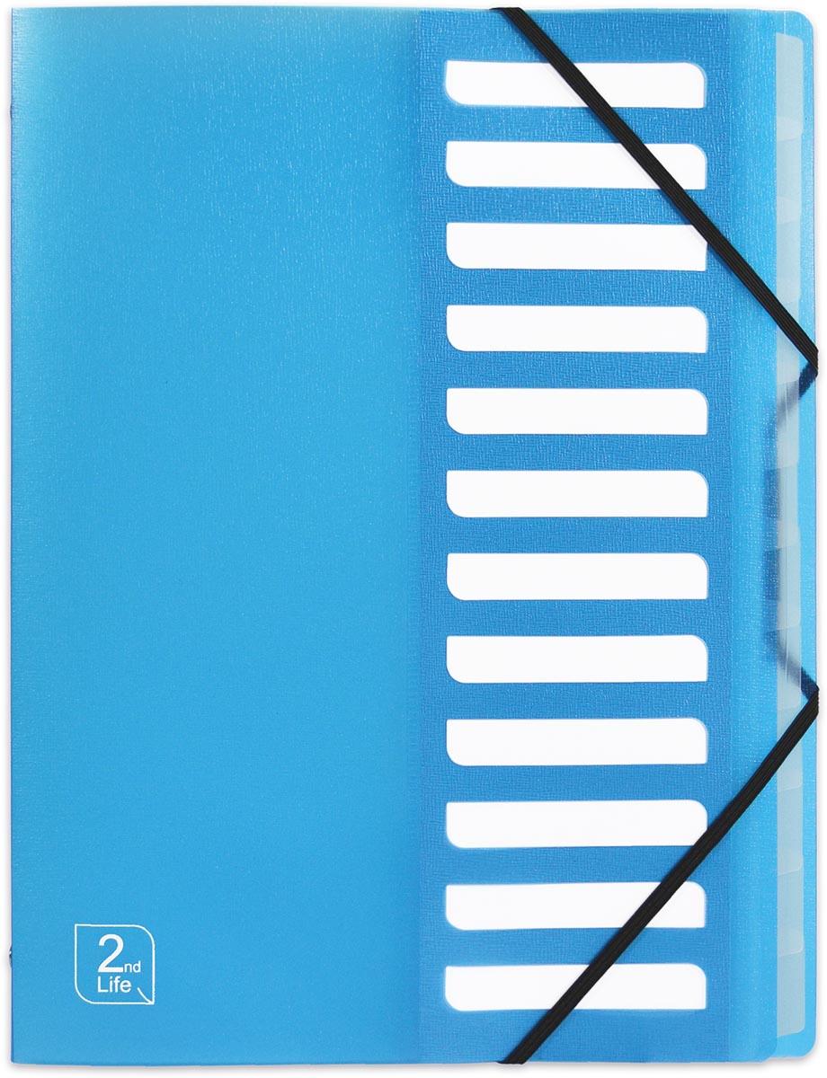 OXFORD 2nd Life sorteermap, formaat A4, uit PP, 12 tabs, blauw