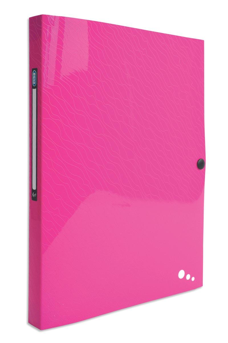 Elba Art Pop elastobox, voor ft A4, rug van 2,5 cm, uit PP, roze