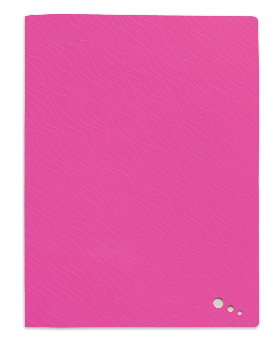 Elba Art Pop showalbum, voor ft A4, 40 tassen, uit PP, roze