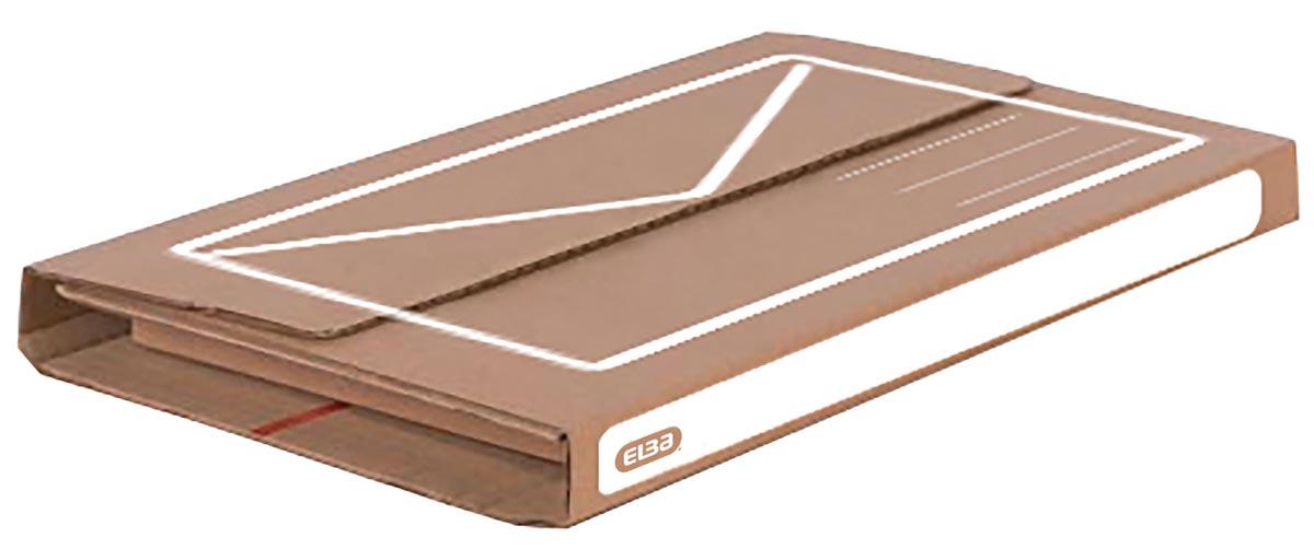 Elba verzenddoos A5+, ft 24 x 18 x 1-5 cm, bruin