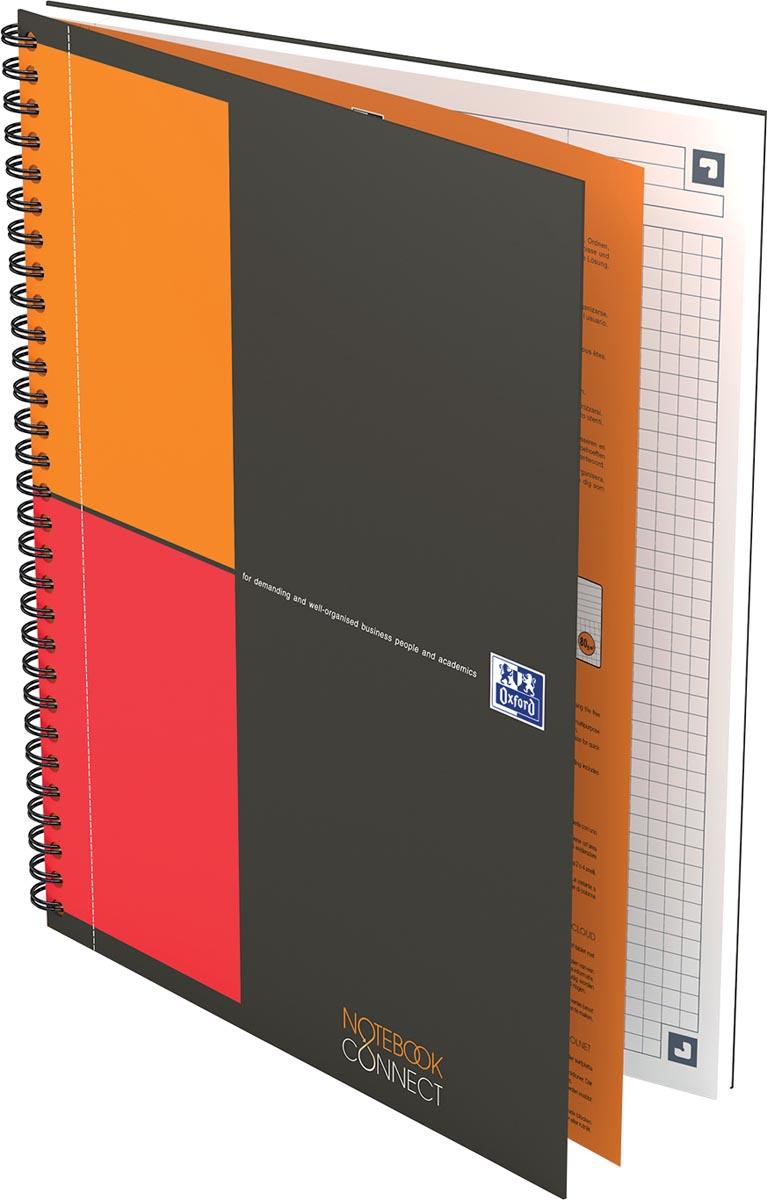 Oxford INTERNATIONAL notebook, 160 bladzijden, ft B5, geruit 5 mm