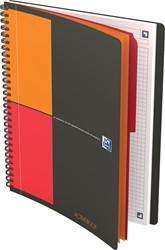 Oxford INTERNATIONAL activebook connect, stevige kartonnen kaft grijs, 160 bladzijden, ft B5 ,geruit 5 mm
