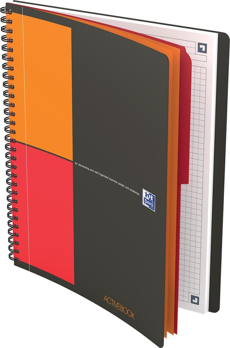 Oxford INTERNATIONAL activebook, 160 bladzijden, ft B5 ,geruit 5 mm