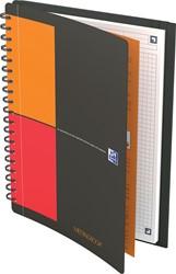 Oxford INTERNATIONAL meetingbook connect, stevige kartonnen kaft grijs, 160 bladzijden,ft B5, geruit 5 mm