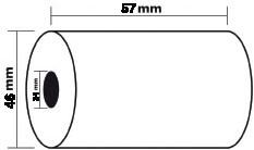 Exacompta thermische rekenrollen ft 57 mm x 46 m, asgat 12 mm, voor creditcard terminals, pak van 5 rolle