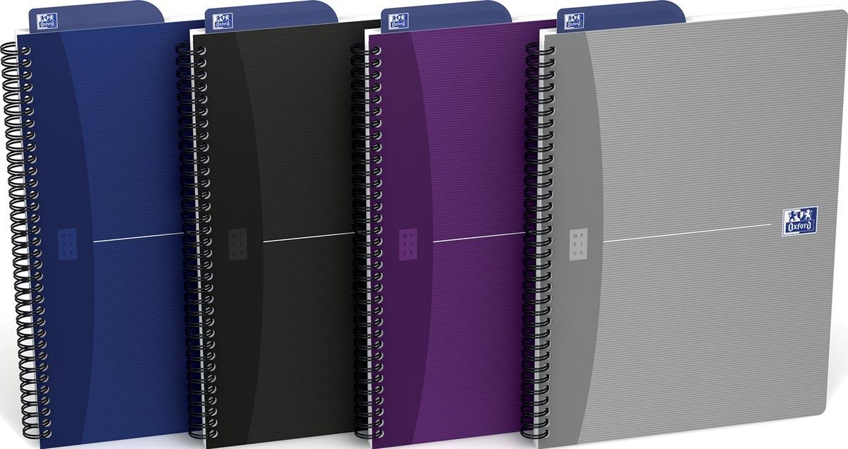 Oxford Office Essentials spiraalschrift, 180 bladzijden, ft 17,6 × 25 cm (B5), 90 vel, puntraster, g