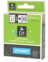 Dymo D1 tape 9 mm, zwart op wit-2