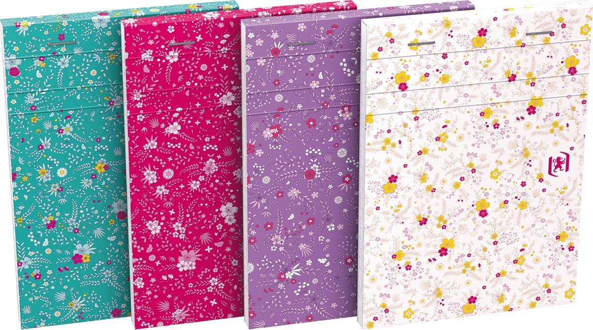 Oxford Floral softcover notitieblok, ft A6, 80 vel, gelijnd, 4 geassorteerde designs