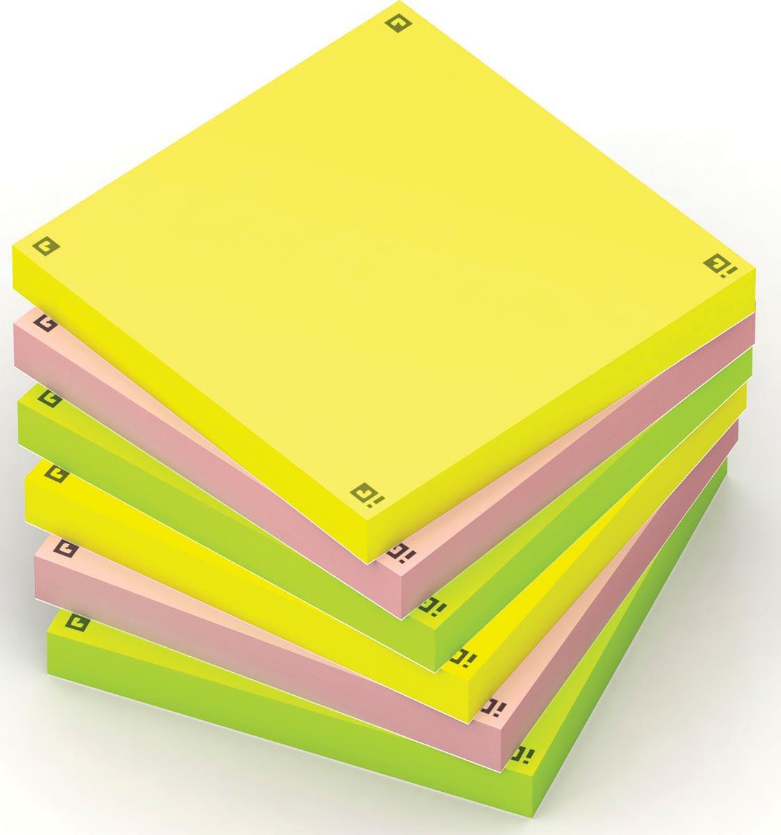 Oxford Spot Notes, sticky Notes, pak van 6, geassorteerde kleuren